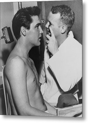 Elvis Presley, 1935-1977, Bare-chested Metal Print by Everett
