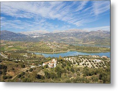 Embalse De La Viñuela, Vinuela Reservoir, Spain Metal Print by Ken Welsh