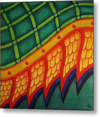 Metal Print featuring the painting Embellishments IIi by Paul Amaranto
