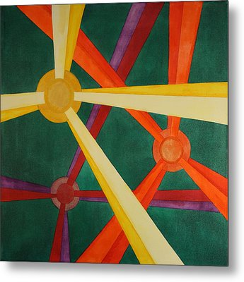 Metal Print featuring the painting Embellishments Iv by Paul Amaranto