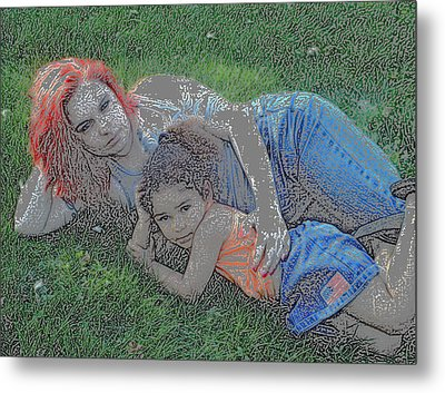 Embrace Your Child Metal Print by Rebecca Frank