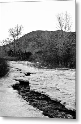 Metal Print featuring the photograph Embudo Ice by Atom Crawford
