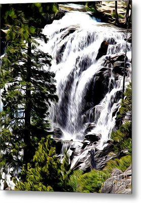 Metal Print featuring the photograph Emerald Bay Waterfall by Anne Raczkowski