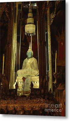 Emerald Buddha Grand Palace Metal Print by Bob Christopher