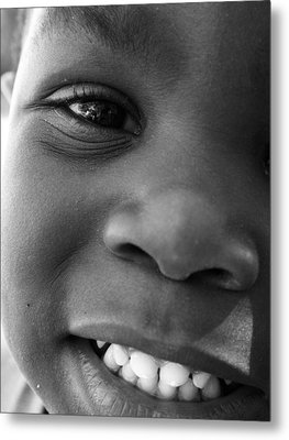 Emery Smile Metal Print by Sally Bauer