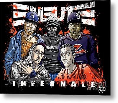 Emeute Infernale - Black Version Metal Print