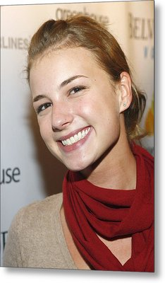 Emily Vancamp At Arrivals For Nhl Metal Print by Everett