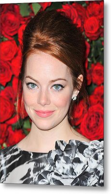 Emma Stone At Arrivals For Momas 4th Metal Print by Everett