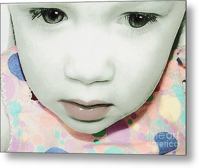 Metal Print featuring the photograph Emo Pop Baby by Laura Brightwood