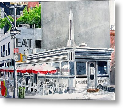 Metal Print featuring the painting Empire Diner by Tom Riggs