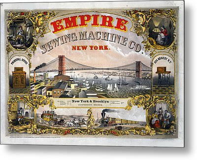 Empire Sewing Brooklyn Metal Print by Charles  shoup