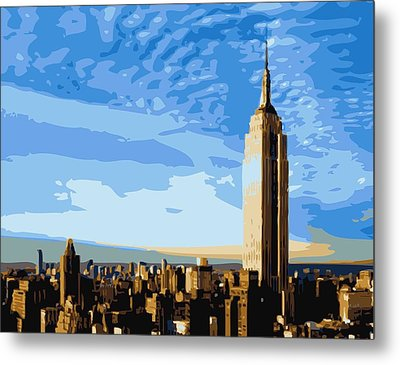 Empire State Building Color 16 Metal Print by Scott Kelley