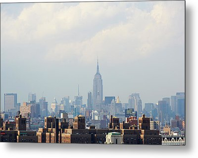 Empire State Building Seen From Lower Manhattan Metal Print by Ryan McVay