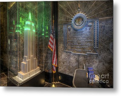 Empire State Model Metal Print by Yhun Suarez