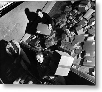 Employees At Macys Department Store Metal Print by Everett