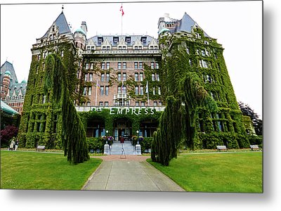 Empress Hotel - Victoria Canada  Metal Print by Gregory Dyer