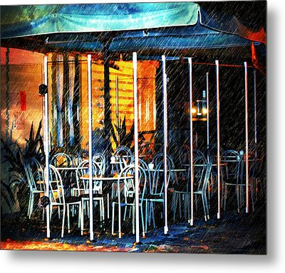 Empty Chairs And Empty Tables Metal Print by Georgiana Romanovna