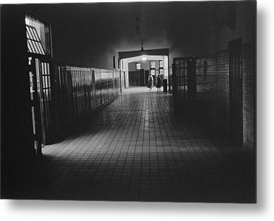 Empty Hallway At Central High School Metal Print by Everett