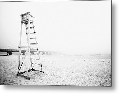 Empty Life Guard Tower 2 Metal Print by Skip Nall