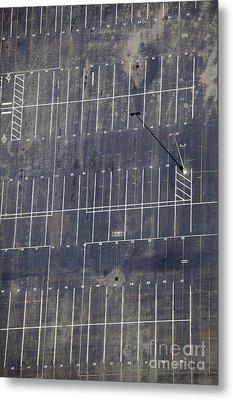 Empty Parking Lot Metal Print by Don Mason