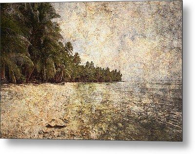 Empty Tropical Beach 2 Metal Print by Skip Nall