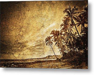 Empty Tropical Beach 3 Metal Print by Skip Nall