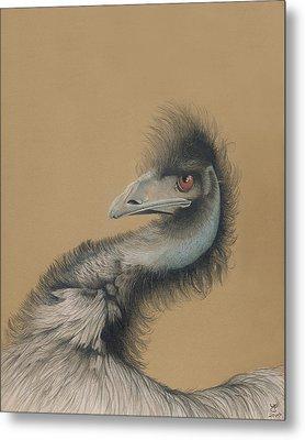 Emu Metal Print by Ann Hamilton