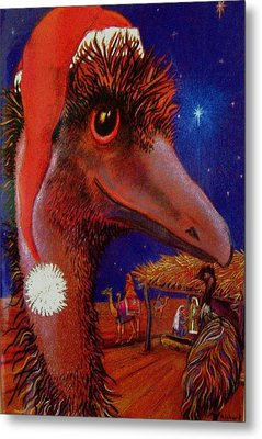 Emus Christmas Metal Print by Richard Rogers