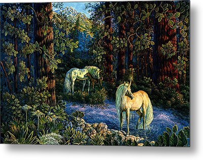 Metal Print featuring the painting Enchanted Forest by Steve Roberts