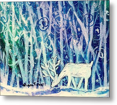 Enchanted Winter Forest Metal Print by Shana Rowe Jackson
