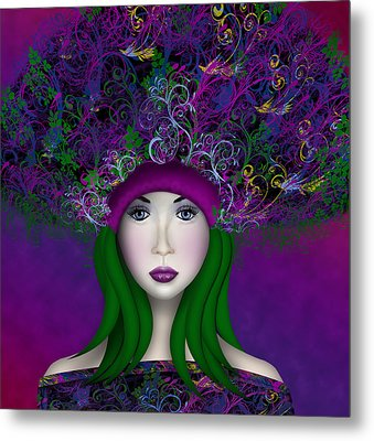 Metal Print featuring the digital art Enchantress by Katy Breen