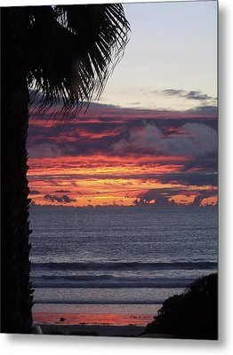Metal Print featuring the photograph Encinitas Sunset by Christine Drake