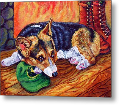 End Of The Day - Pembroke Welsh Corgi Metal Print by Lyn Cook
