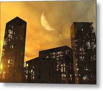End Of The World, Conceptual Artwork Metal Print
