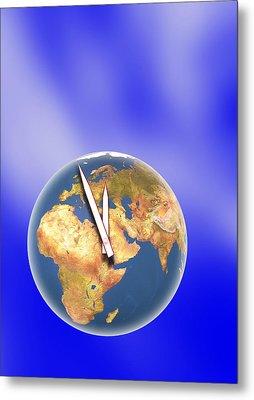 End Of The World, Conceptual Image Metal Print by Pasieka