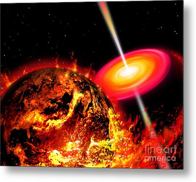 End Of The World The Earth Destroyed Metal Print