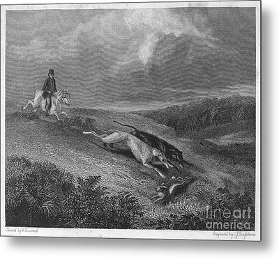 England: Coursing, 1833 Metal Print by Granger