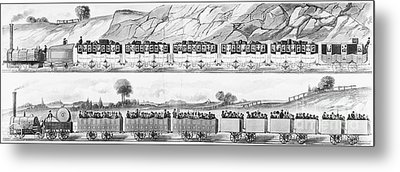 England: Railroad Travel Metal Print by Granger