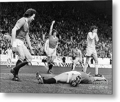 England: Soccer Game, 1977 Metal Print by Granger