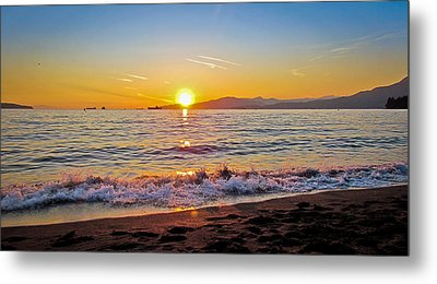 English Bay - Beach Sunset Metal Print by Eva Kondzialkiewicz
