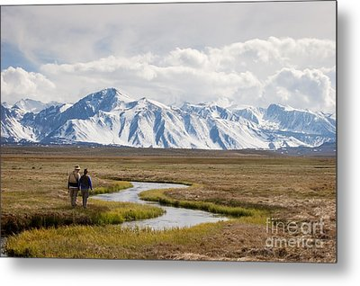Enjoying The Upper Owens River Metal Print by Ei Katsumata