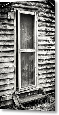 Enter Through The Back Door Metal Print by John Rizzuto