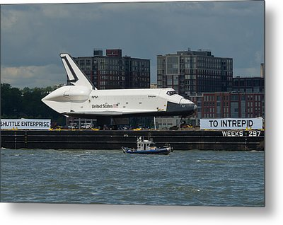Enterprise To Intrepid Metal Print by Gary Eason