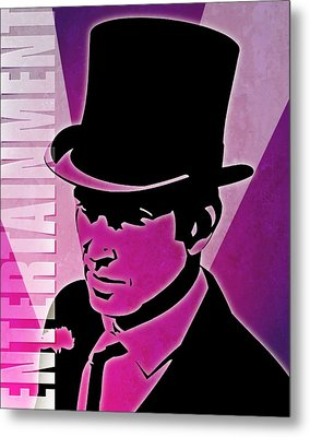 Entertainment Poster With Man In Top Hat Metal Print by Photos.com