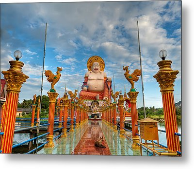 Entrance To Buddha Metal Print by Adrian Evans
