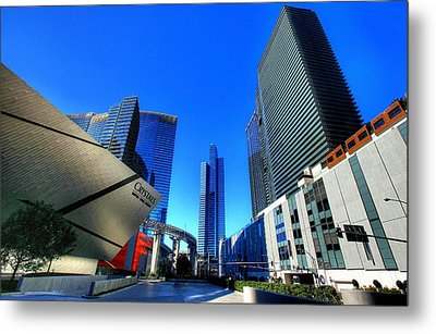 Entrance To City Center Metal Print by Linda Edgecomb