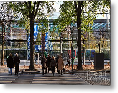 Entrance To Musee Branly In Paris In Autumn Metal Print by Louise Heusinkveld