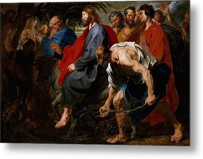 Entry Of Christ Into Jerusalem Metal Print by Sir Anthony Van Dyck
