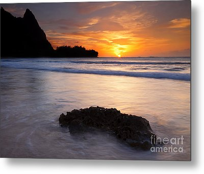 Enveloped By The Tides Metal Print by Mike  Dawson