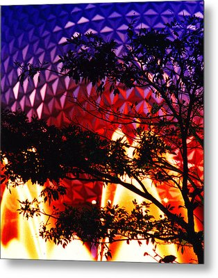 Metal Print featuring the photograph Epcot Dream by Mike Flynn